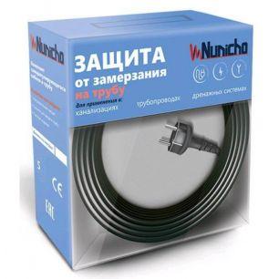 Готовый комплект кабеля NUNICHO снаружи трубы 16 Вт/м - 8 метров + (холодный ввод  с вилкой- 2 метра).