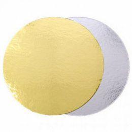 Подложка для торта Золото/Серебро толщина 0,8мм  D 15см