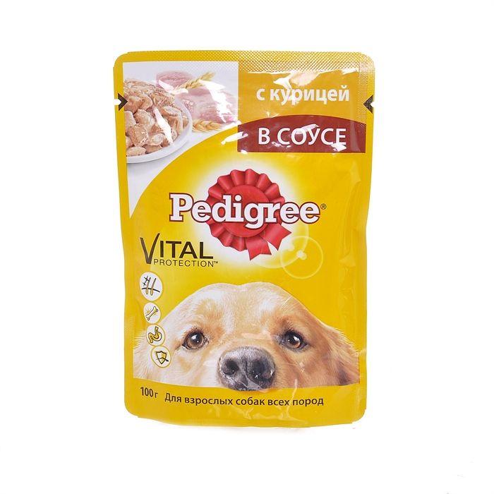 Педигри 100г конс. для взрослых собак курица в соусе