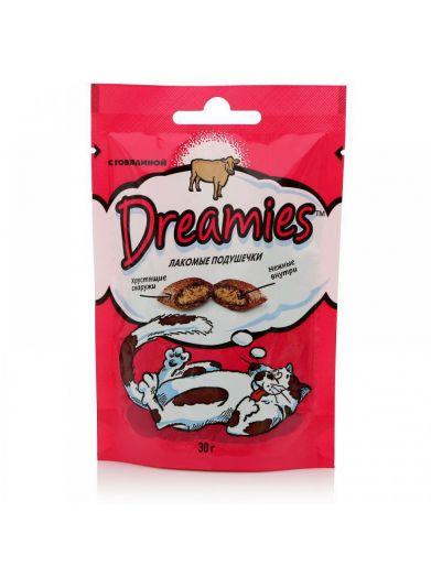 Dreamies 30г лакомые подушечки с говядиной