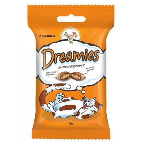 Dreamies 30г лакомые подушечки с курицей