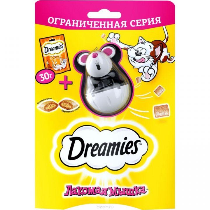 Dreamies 30г лакомые подушечки курица/лакомая мышка