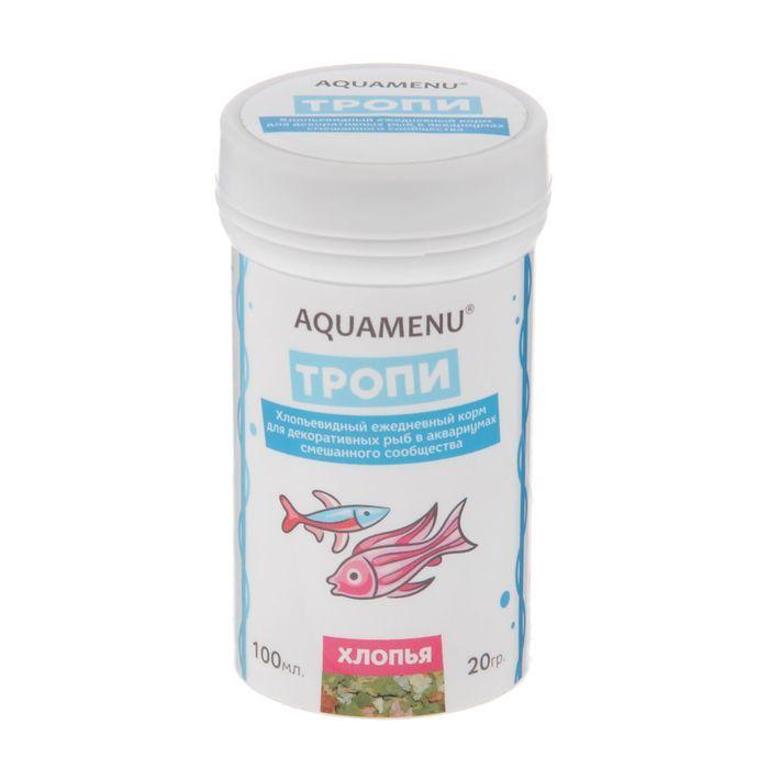 Корм д/рыб Аква-меню 100мл Тропи хлопья