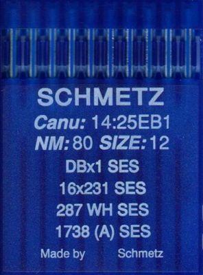 Иглы промышленные для трикотажа Schmetz DBx1 SES №80 10 шт
