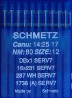 Иглы промышленные универсальные Schmetz DBx1 SERV7 №80 10 шт