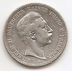 2 марки Германская империя (Пруссия)1908