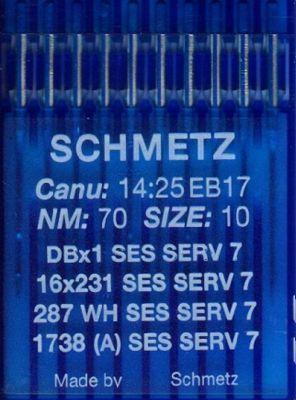 Иглы Schmetz DBx1 SES SERV7 №70 10 шт