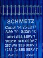 Иглы промышленные для трикотажа Schmetz DBx1 SES SERV7 №70 10 шт