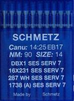 Иглы Schmetz DBx1 SES SERV7 №90 10 шт
