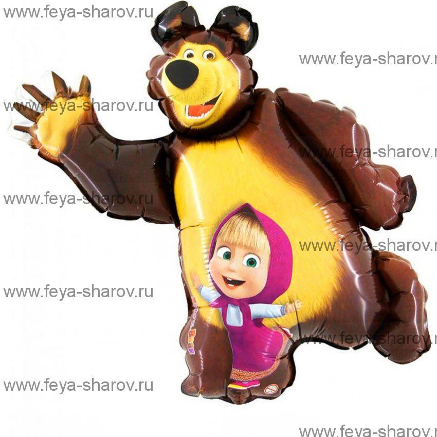 Шар Маша и Медведь 89 см
