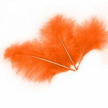 Перо, оранжевый, 14 см / 30 шт