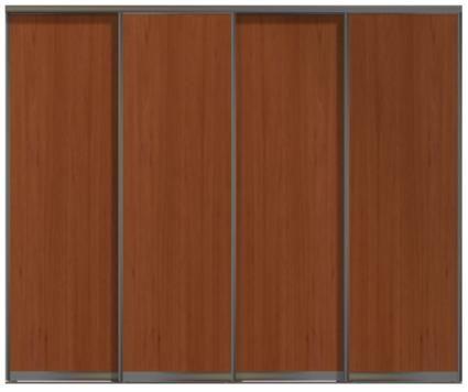 Четырехдверные двери купе - ЛДСП или глухие