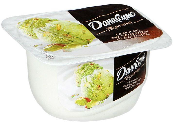Продукт творожный Фисташковое мороженное 6,5% 130г Данон