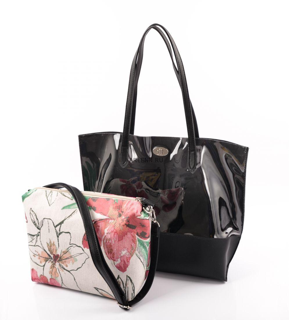 Прозрачная сумка David Jones (черная)