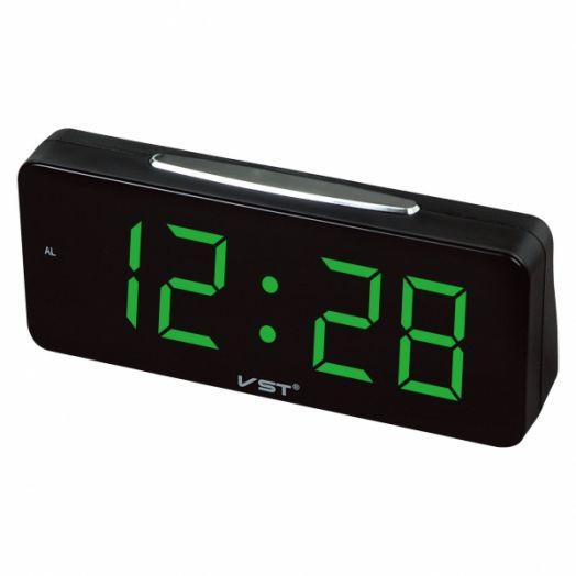 Часы эл. VST763T-4 зел.цифры