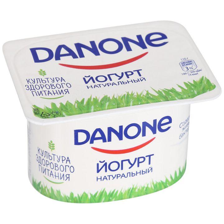 Йогурт Данон густой натуральный 3,3% 110г Данон