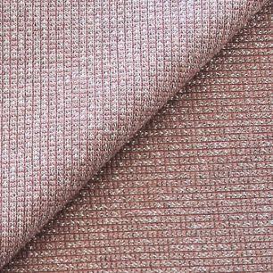 Лоскут трикотажной ткани кашкорсе Пыльная роза с люрексом