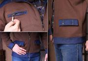 Спереди толстовки три удобных кармана, нагрудный карман на молнии.