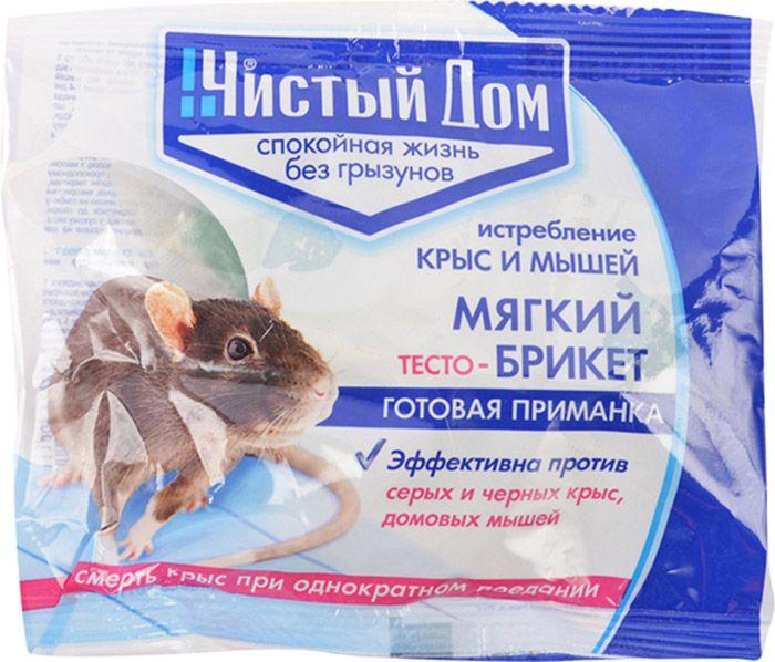 Тесто-брикет Чистый дом 100г от крыс пакет а15802