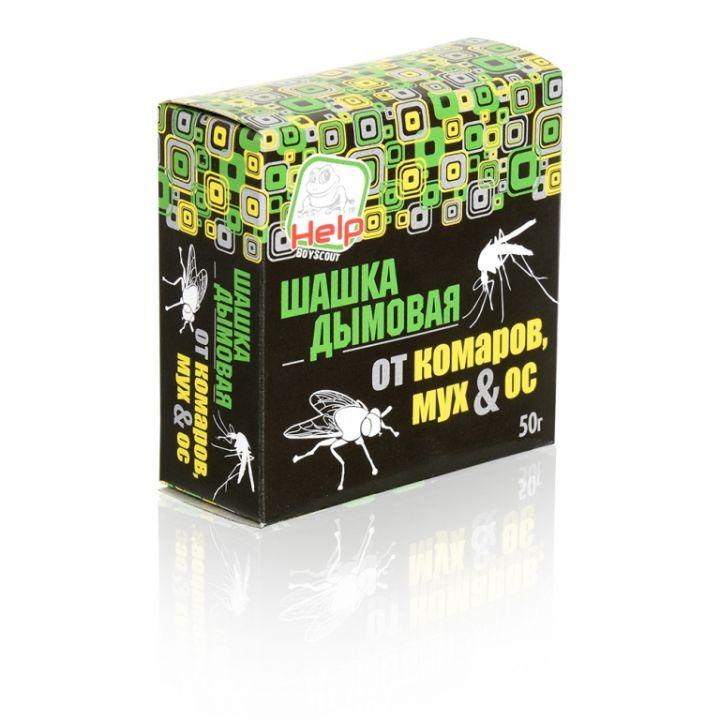 Шашка дымовая Help 50г от комаров, мух и ос