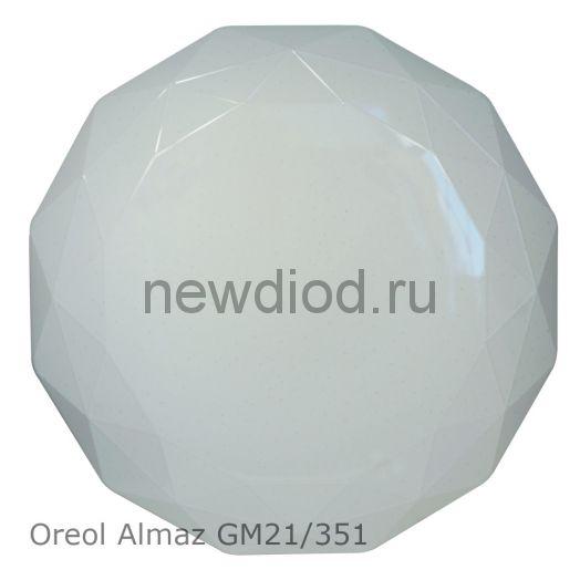 Управляемый светодиодный светильник Oreol ALMAZ 40Вт-2880Лм 400мм 4/3/6000К