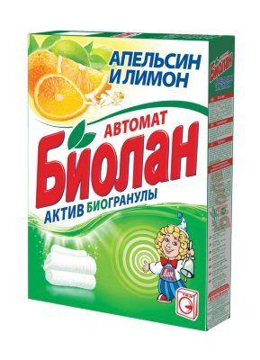 Стир. порошок БИОЛАН 350г автомат Апельсин и лимон