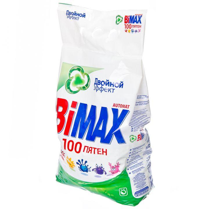 Порошок стир BiMax 3кг автомат 100 пятен