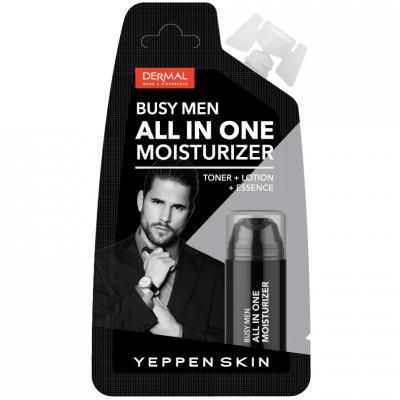Dermal Yeppen Skin Busy Men All in One Moisturizer Увлажняющий и освежающий гель для мужчин 3 в 1 тоник + лосьон + эссенция с гиалуроновой кислотой и натуральными экстрактами 15 гр