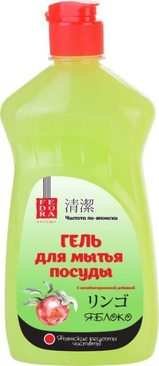 Средство д/мытья посуды Fedora 500мл Гель Яблоко