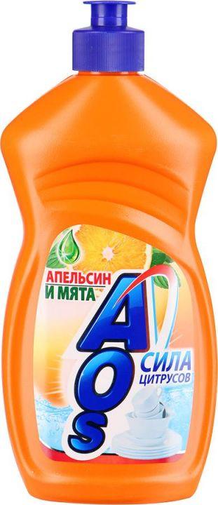 Ср-во д/посуды АOS 450мл Апельсин и мята фн