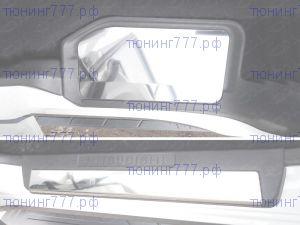 Накладки на пластик внутр. порогов, TCC, матовая сталь, с 2014-