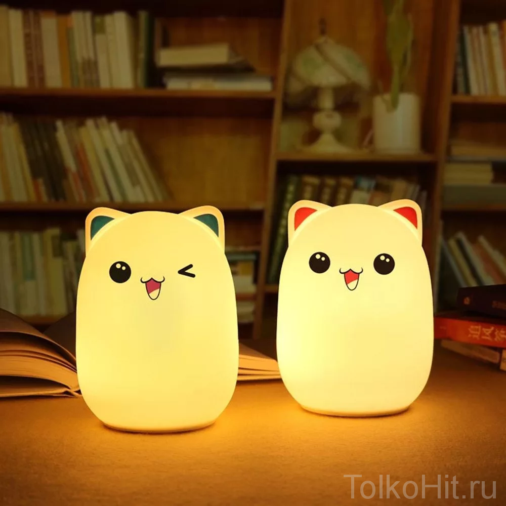 Мягкий силиконовый ночник Colorful Silicone Lamp
