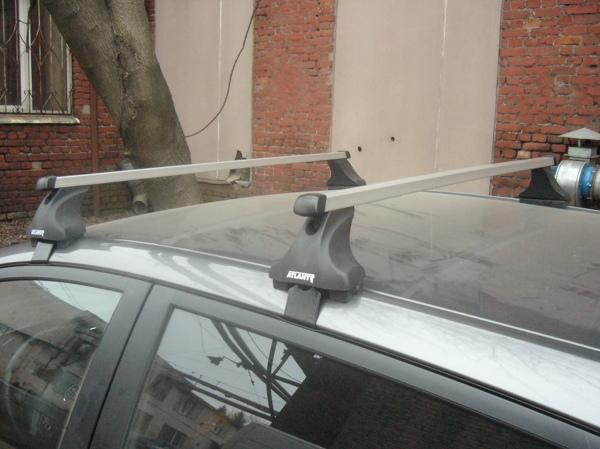 Багажник на крышy Nissan Note, Атлант, прямоугольные дуги, опора E