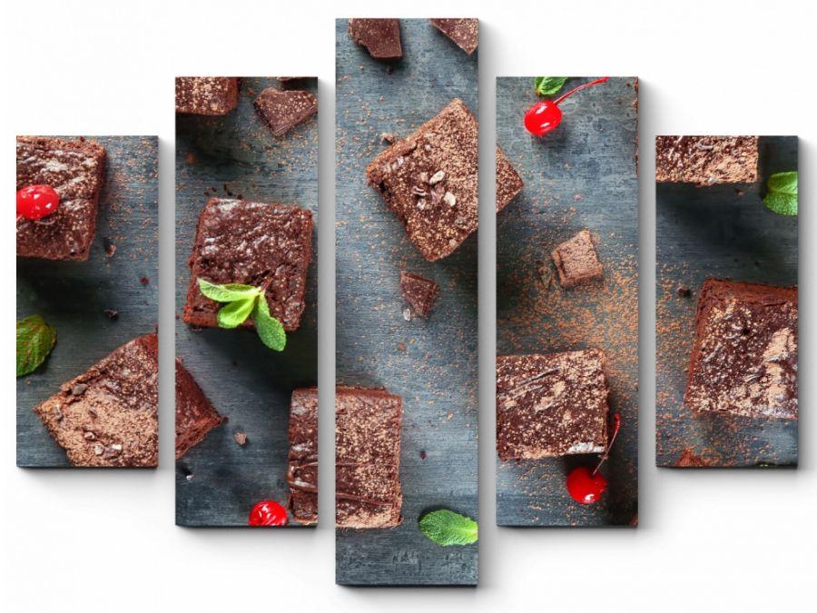 Модульная картина Пирожное Брауни