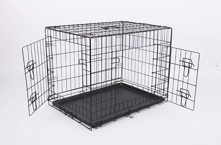 Клетка №3 76х49х53 2 двери пластик поддон для животных собак кошек щенков