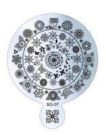 Пластина для стемпинга круглая SG 07