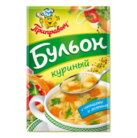 Бульон Приправыч куриный с овощами и зеленью 75г