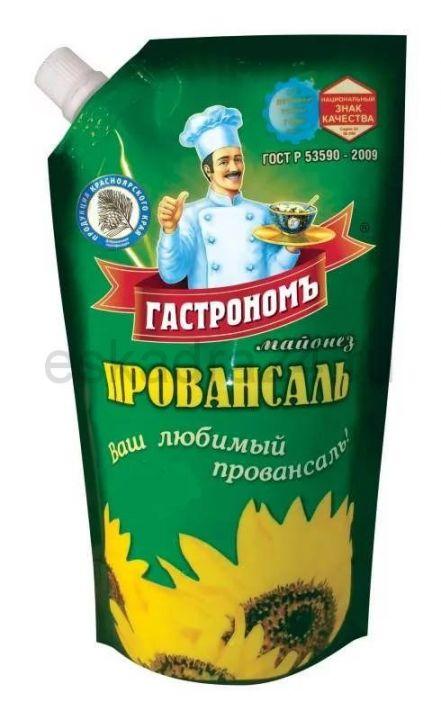 Майонез Гастроном Провансаль 67% д/пак 400г ООО Краспищепром