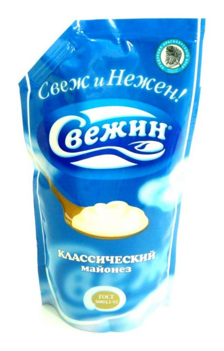 Майонез Свежин 37% д/пак 800г ООО Краспищепром