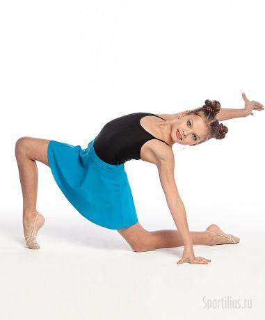 голубая юбка для гимнастики