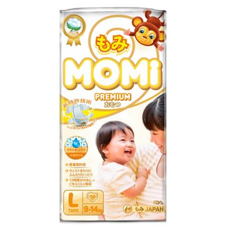 Подгузники Momi Premium 9-14 кг (L) 50 шт.