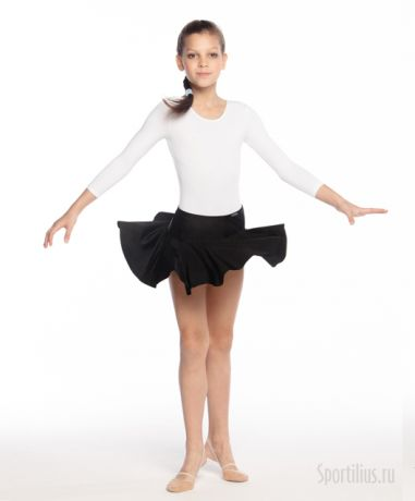 чёрная юбка с широким поясом для гимнастики