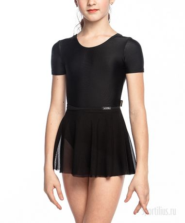 черная юбка сетка на завязках