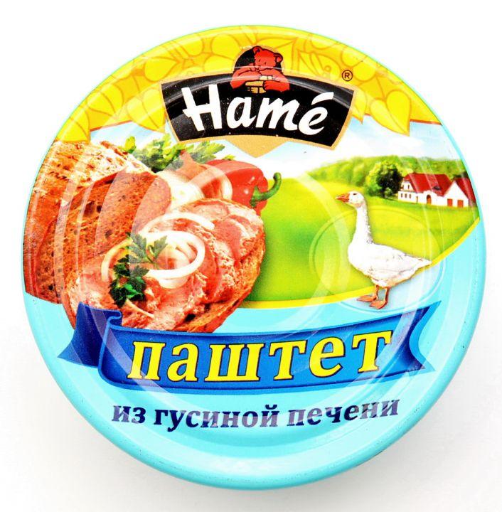 Паштет ХАМЕ 250г гусиная печень ж/б