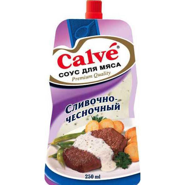 Соус Кальве для Мяса слив/чесночный 230г пл/пак