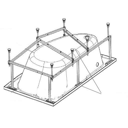 Монтажный комплект к акриловой ванне ROCA WELNA ZRU9302999 160х100 см