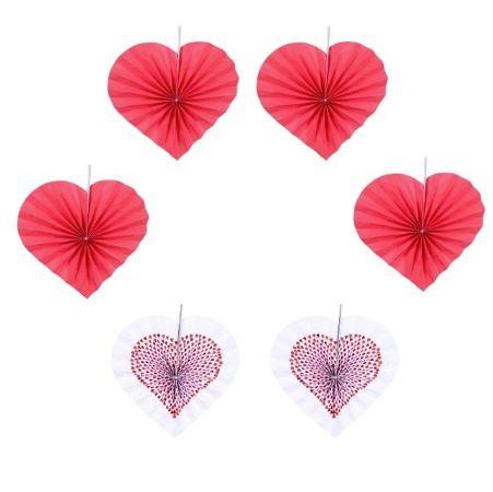 Набор из 6 фантов-сердечек