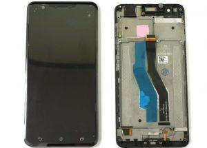 LCD (Дисплей) Asus ZE553KL ZenFone 3 Zoom (в сборе с тачскрином) (в раме) (black) Оригинал