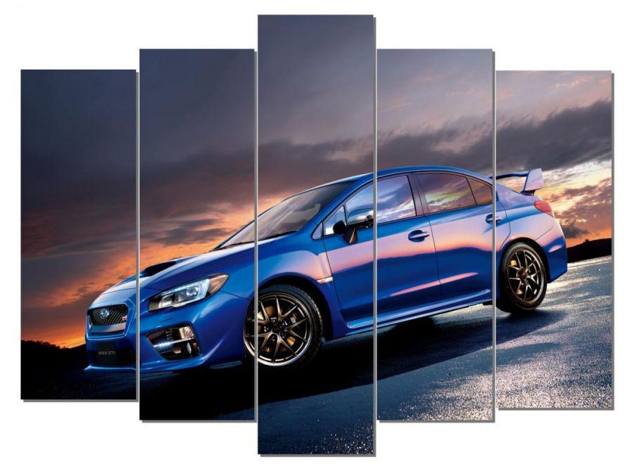 Модульная картина Subaru Impreza WRX STI