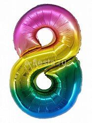 "Цифра ""8"" радуга 86см"